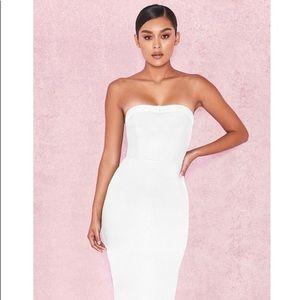 House of CB white fabrizia dress